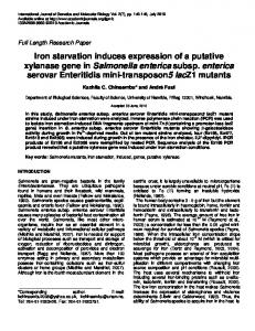 Iron starvation induces expression of a putative ... - Academic Journals
