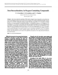 Iron stereochemistry in oxygen-containing compounds - Springer Link