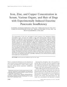 Iron, Zinc, and Copper Concentration in Serum ... - Springer Link