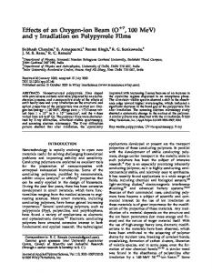 irradiation on polypyrrole films - Wiley Online Library