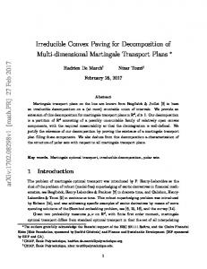 Irreducible convex paving for decomposition of multi-dimensional ...