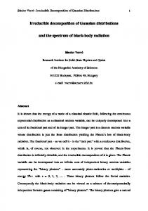 Irreducible decomposition of Gaussian distributions and the
