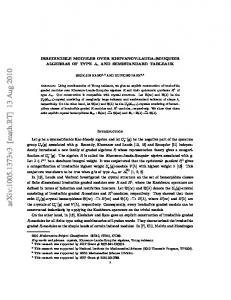 Irreducible Modules over Khovanov-Lauda-Rouquier Algebras of type ...