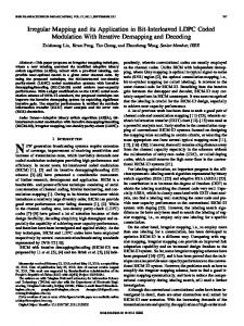 Irregular Mapping and its Application in Bit-Interleaved ... - IEEE Xplore