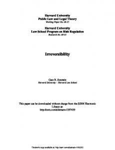 Irreversibility - SSRN papers