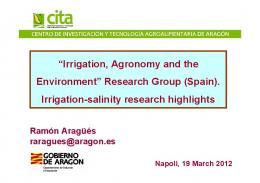 Irrigation, Agronomy and the Environment - CSIC Digital
