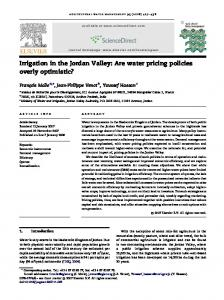 Irrigation in the Jordan Valley: Are water pricing policies overly ...