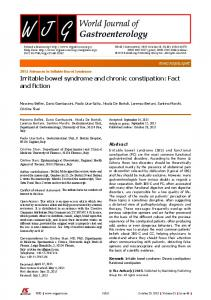 Irritable bowel syndrome and chronic constipation: Fact and ... - AIGO