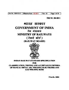 IRSM 28-11 Effective from - rdso - Indian Railway