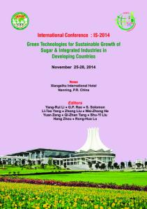 IS-2014 November 25-28, 2014 Green Technologies for Sustainable ...