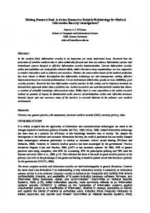 Is Action Research a Suitable Methodology for Medical Information ...