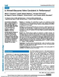 Is Ahmed Glaucoma Valve Consistent in Performance?