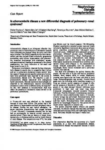 Is atheroembolic disease a new differential diagnosis of pulmonary ...