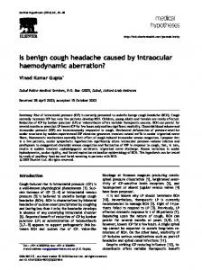 Is benign cough headache caused by intraocular ...