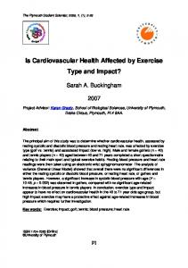 Is Cardiovascular Health Affected by Exercise