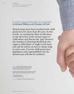 Is child safeguarding safe in our hands? by Richard ...