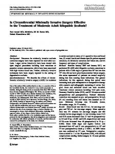 Is Circumferential Minimally Invasive Surgery Effective ... - Springer Link