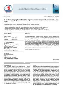 Is electrocardiography sufficient for supraventricular tachycardia ...