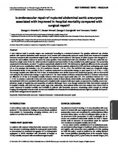 Is endovascular repair of ruptured abdominal aortic ... - Oxford Journals