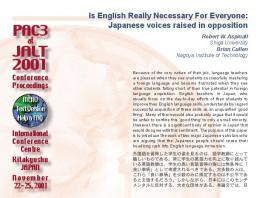 Is English Really Necessary... - JALT Publications
