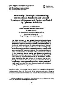 Is It Really Cheating? Understanding the Emotional Reactions and ...