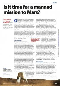 Is it time for a manned mission to Mars?