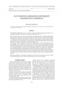 is it worth comparing different bankruptcy models? - Semantic Scholar