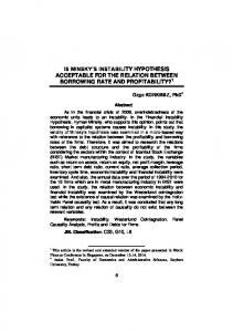 is minsky's instability hypothesis acceptable for the ... - Financial Studies