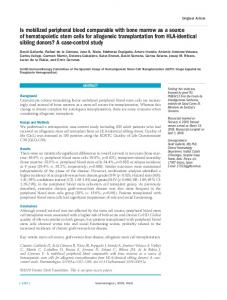 Is mobilized peripheral blood comparable with bone marrow as a ...