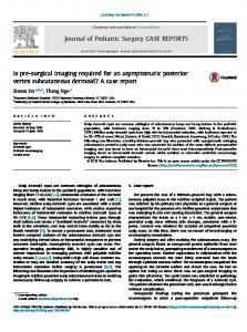 Is pre-surgical imaging required for an asymptomatic posterior vertex ...