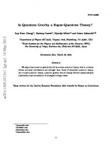 Is Quantum Gravity a Super-Quantum Theory?