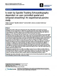 Is strain by Speckle Tracking Echocardiography ... - BioMedSearch