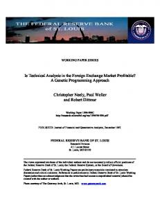 Is Technical Analysis in the Foreign Exchange Market ... - CiteSeerX