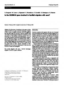 Is the CACNA1A gene involved in familial migraine ... - Springer Link