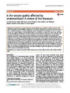 Is the oocyte quality affected by endometriosis? A ... - Semantic Scholar