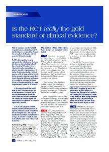 Is the RCT really the gold standard of clinical ...
