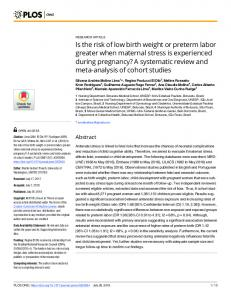 Is the risk of low birth weight or preterm labor greater when ... - PLOS