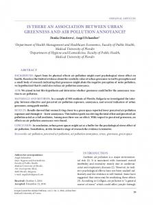 is there an association between urban greenness and air pollution ...