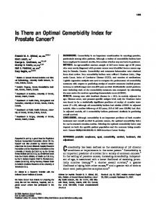 Is there an optimal comorbidity index for ... - Wiley Online Library