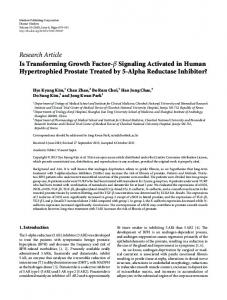 Is Transforming Growth Factor-Signaling Activated in Human ...