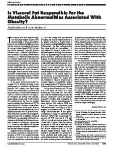 Is Visceral Fat Responsible for the Metabolic ... - Diabetes Care