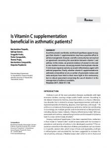 Is Vitamin C supplementation beneficial in asthmatic
