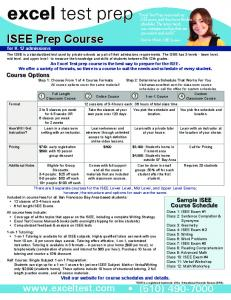 ISEE Prep Course - Excel Test Prep