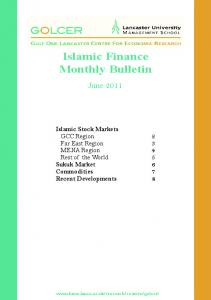 Islamic Finance Monthly Bulletin - Lancaster University