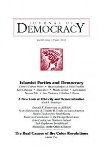 Islamist Parties and Democracy