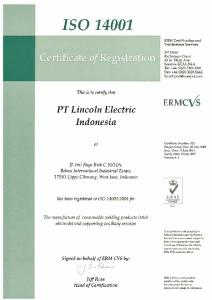 ISO 14001 Jakarta, Indonesia - Lincoln Electric, Asia