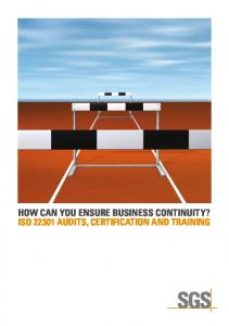 ISO 22301 Business Continuity - SGS
