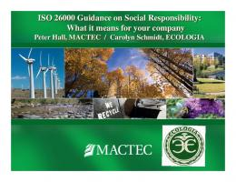 ISO 26000 Guidance on Social Responsibility: What it means for ...