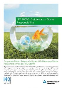 ISO 26000: Guidance on Social Responsibility