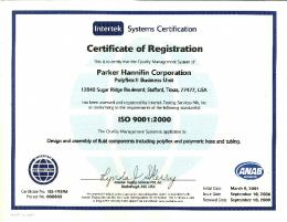 ISO 900 22000 - Parker